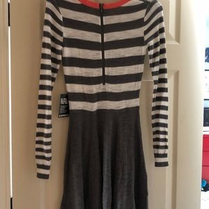 Brand new express sweater dress with tags. Xs